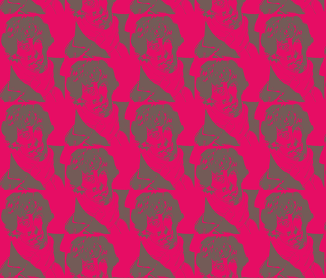 Geek Hero 2 raspberry crush fabric by kcs on Spoonflower - custom fabric