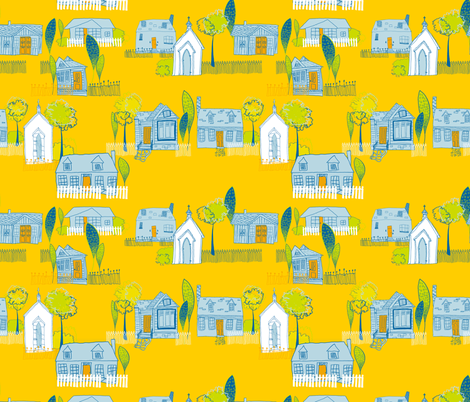 Home is Where the Heart is fabric by twobloom on Spoonflower - custom fabric