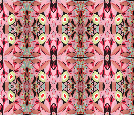 Pretty Pink Retro fabric by divastar on Spoonflower - custom fabric