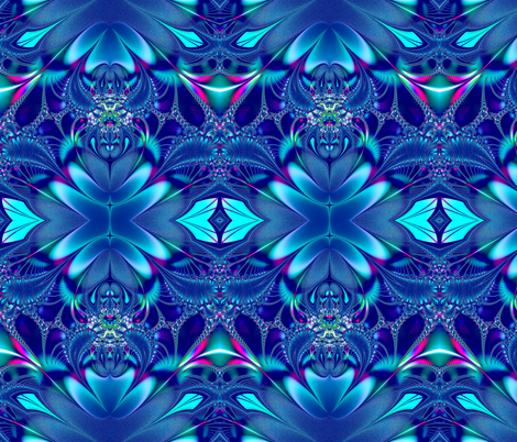 Fractal: Blue Elegance  fabric by artist4god on Spoonflower - custom fabric