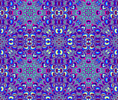 Fractal: Blue Squared fabric by artist4god on Spoonflower - custom fabric