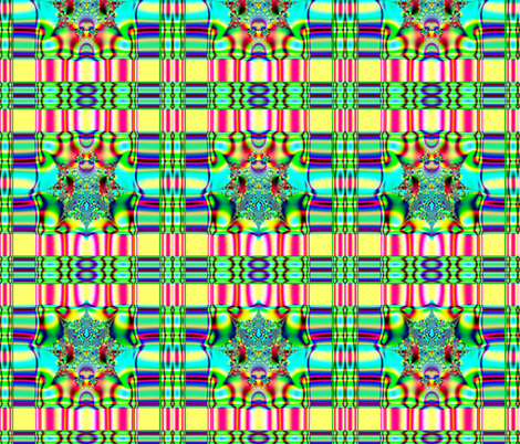 Fractal: Spring Plaid Fabric