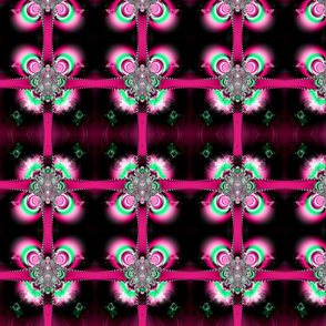 Fractal: Pink Ribbons and Bows