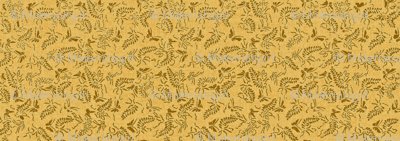 butterfly ferns - yellow, brass