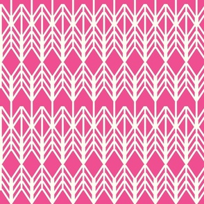 layered arrows - pink