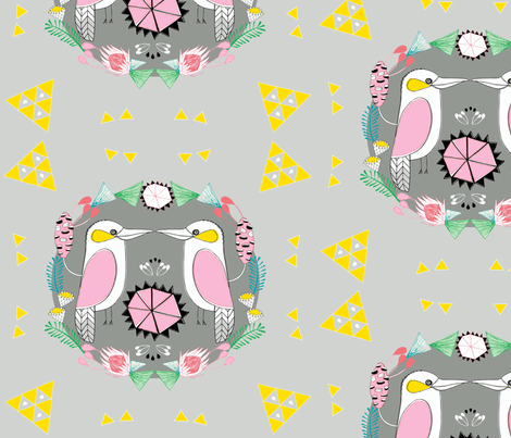 Kookaburra Kiss fabric by doopsdesigns on Spoonflower - custom fabric