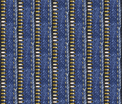 bluejeans_zipper fabric by sydama on Spoonflower - custom fabric