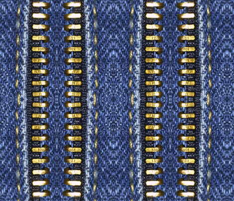 blue_zipper2 fabric by sydama on Spoonflower - custom fabric