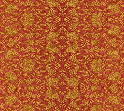 Broken Arrow - red/gold fabric by materialsgirl on Spoonflower - custom fabric
