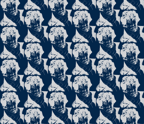 geek_hero_2 neg dark blue fabric by kcs on Spoonflower - custom fabric