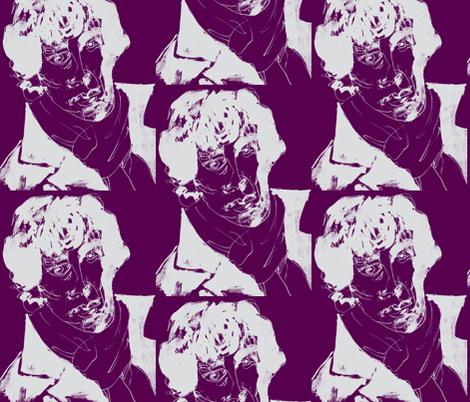 geek_hero_2 purple gray fabric by kcs on Spoonflower - custom fabric