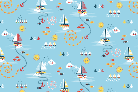 NAVY fabric by lijo on Spoonflower - custom fabric