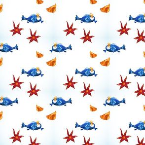 pattern with cute fish
