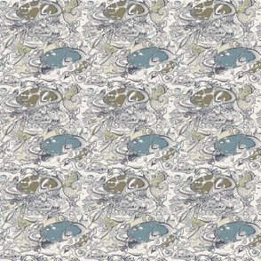 seamless pattern with lizart