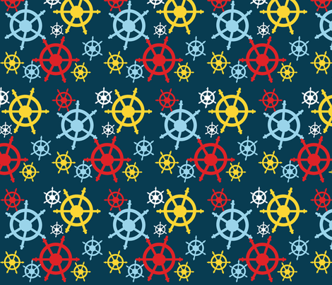Sailing Sailing fabric by kiwicuties on Spoonflower - custom fabric
