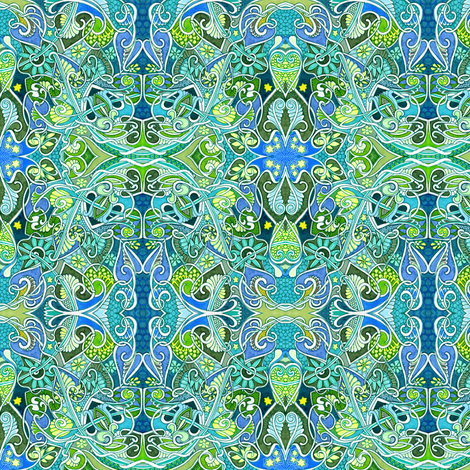 I See Sea Creatures fabric by edsel2084 on Spoonflower - custom fabric