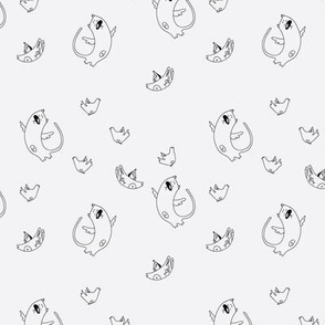 pattern with cat and rabbit