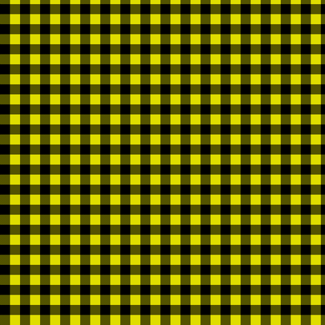 black and yellow gingham (firefly) fabric by weavingmajor on Spoonflower - custom fabric