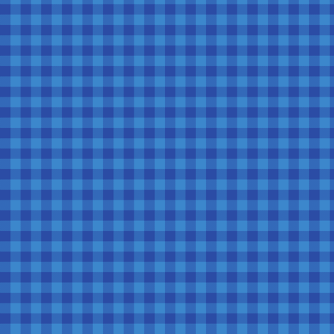 serene blue gingham  fabric by weavingmajor on Spoonflower - custom fabric