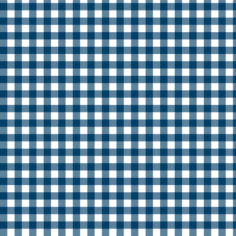 blue and white gingham fabric by weavingmajor on Spoonflower - custom fabric