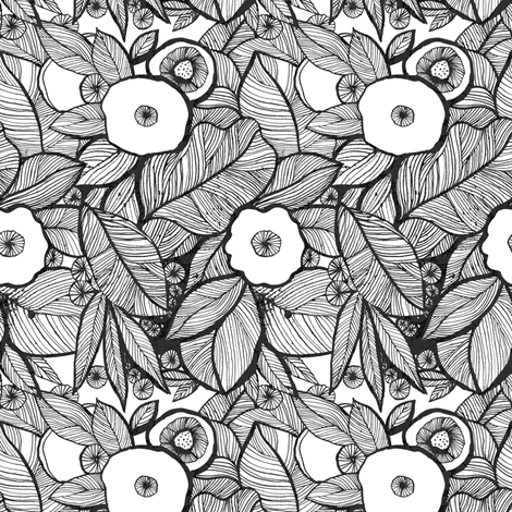 Eyes of the jungles_small fabric by chulabird on Spoonflower - custom fabric