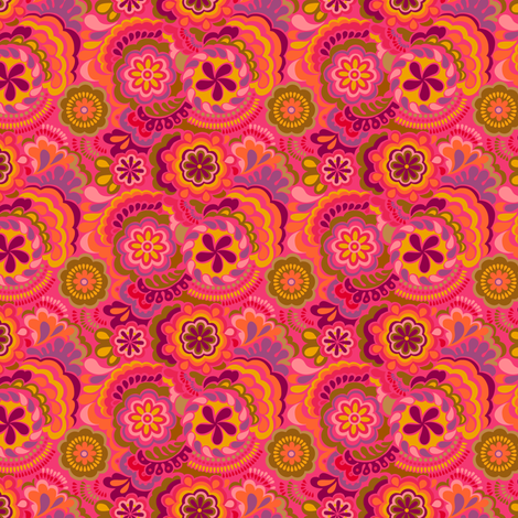 Autumn_swirls-tiny  fabric by chulabird on Spoonflower - custom fabric
