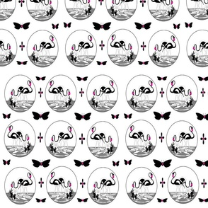 MA-20-Black_White_Pink_Flamingos_Butterflies