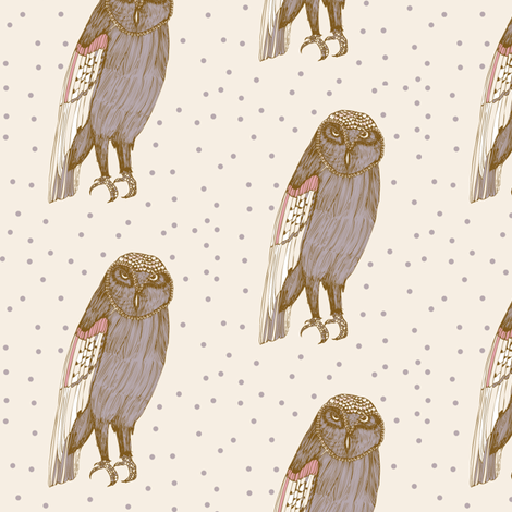 Chouette ! fabric by st-illustration on Spoonflower - custom fabric