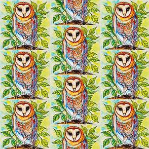 Barn Owl Branch Stripe
