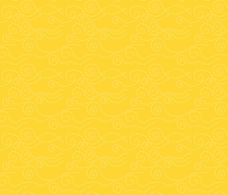 vague_pointillée_jaune_blanc_M fabric by nadja_petremand on Spoonflower - custom fabric