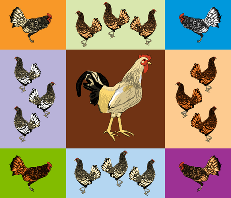 roosters_uneven_9_patch_E fabric by khowardquilts on Spoonflower - custom fabric