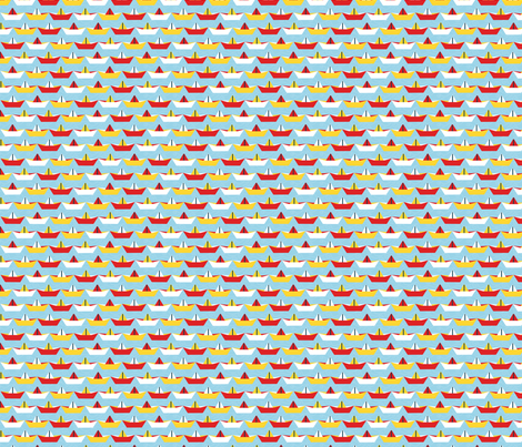 sailing_paper_boat_ciel_M fabric by nadja_petremand on Spoonflower - custom fabric