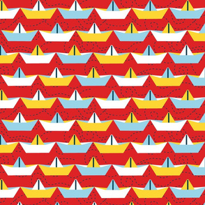 sailing_paper_boat_rouge_XL