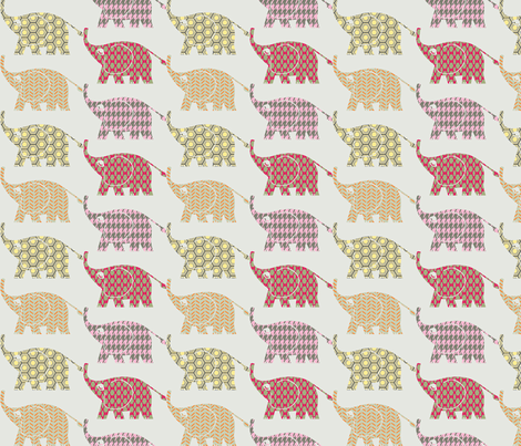 elephants on parade fabric by mezzime on Spoonflower - custom fabric