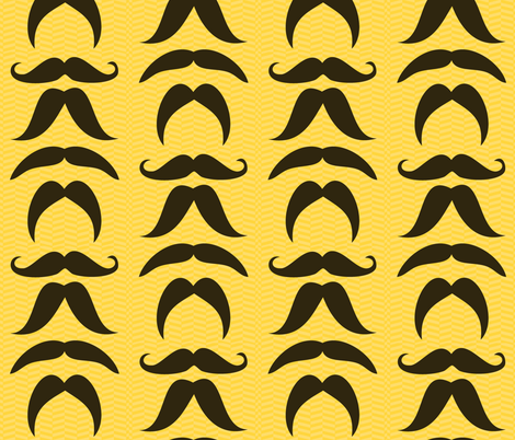 Mustaches fabric by popstationery&gifts on Spoonflower - custom fabric