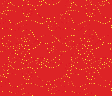 vague_pointillée_rouge_jaune_L fabric by nadja_petremand on Spoonflower - custom fabric