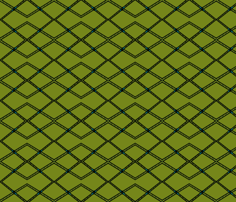 Bridge Argyle-green fabric by relative_of_otis on Spoonflower - custom fabric