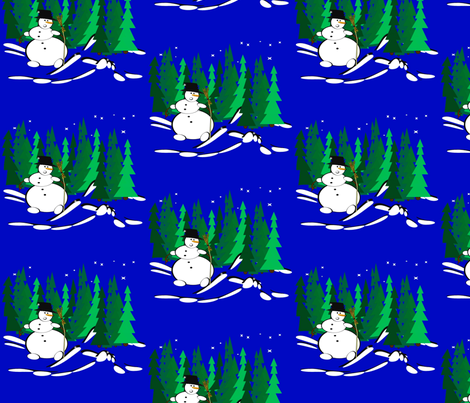 Snowman fabric by retroretro on Spoonflower - custom fabric