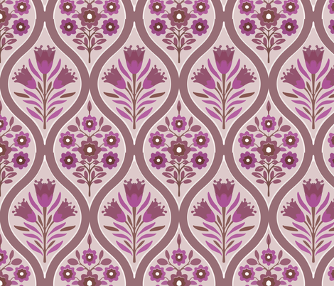 purple bouquet fabric by myracle on Spoonflower - custom fabric