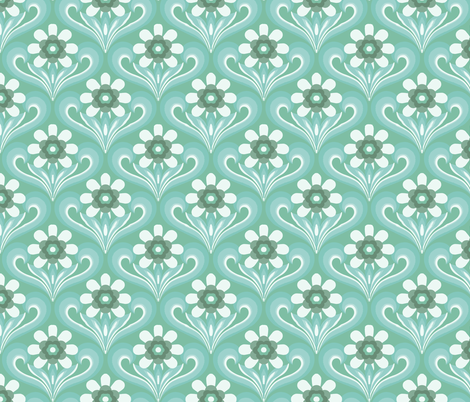 pretty in green fabric by myracle on Spoonflower - custom fabric