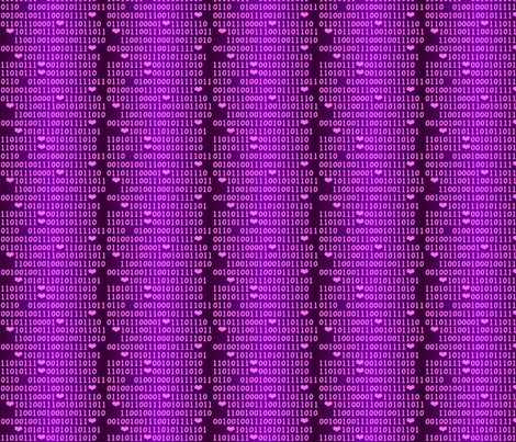 binary_love() fabric by nicolej on Spoonflower - custom fabric