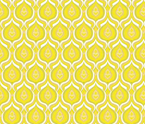 flames yellow fabric by myracle on Spoonflower - custom fabric