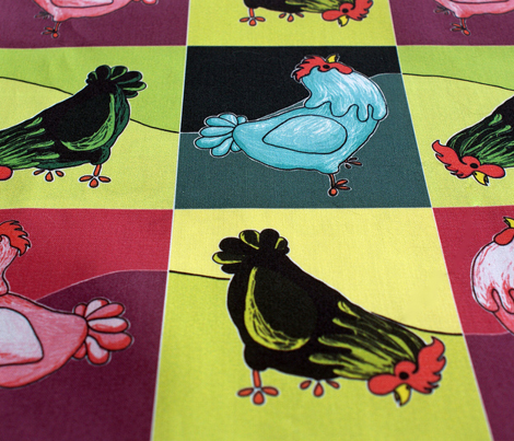 Chatty Chickens Pop Art