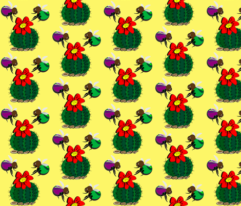 Cactus fabric by retroretro on Spoonflower - custom fabric