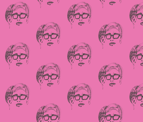 Geek Hero 1 pink fabric by kcs on Spoonflower - custom fabric