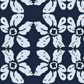 Blue lily bandana 02