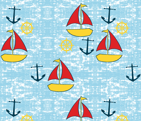 ahoy there matey fabric by mezzime on Spoonflower - custom fabric