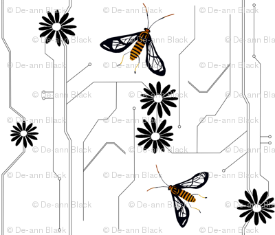 Wasp moth design