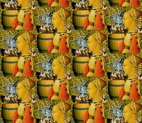 More Fun Than A Barrel Of Monkeys fabric by whimzwhirled on Spoonflower - custom fabric
