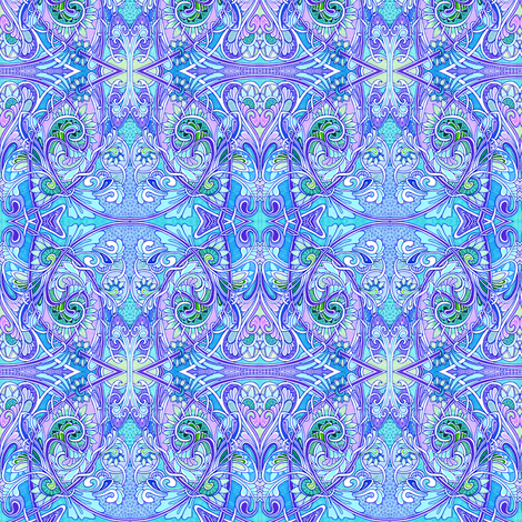 Little Girl Blue Come Blow Your Rococo Horn fabric by edsel2084 on Spoonflower - custom fabric